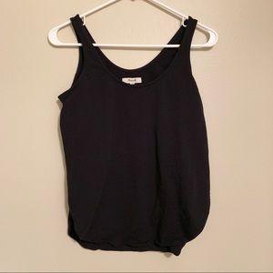 Madewell singlet side slit tank top black